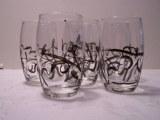 Verre à eau, collection printemps,de 12cm de haut et 6cm de diamètre (lot de 6 verres)