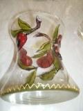 Vase en verre peint à la main fleuri