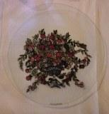 Assiette les floralies lot de 6 peinture sous verre