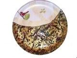 Assiette 27cm peinte sous verre