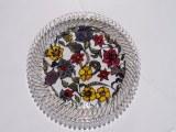 plateau fleuri fait tout à la main , cuit et passe au lave vaisselle