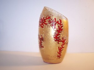 Vase peint, hauteur 19cm diamètre 9cm