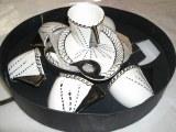 Ensemble gouter 6 tasses porcelaine