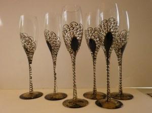 """Flute à champagne modèle original """"Fêtes"""""""