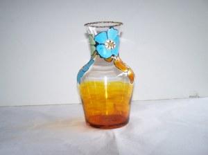 Vase/Pichet en verre peint 1 litre