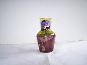 Vase/Pichet en verre peint 1/2 litre